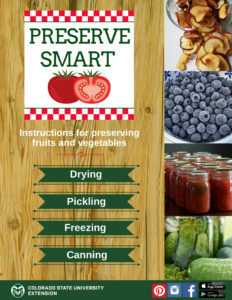 Preserve Smart is an app that provides instructions for preserving fruits and vegetables.